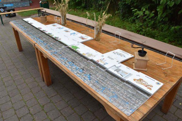 Riesenpuzzle zum Wasserschutzbrot im Schullandheim Hobbach